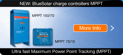 NEW: BlueSolar charge controllers with Maximum Power Point Tracking
